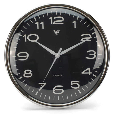 Victory Colson Shiny Frame Domed Face Wall Clock Black 31cm CCL 1065 BLA 3