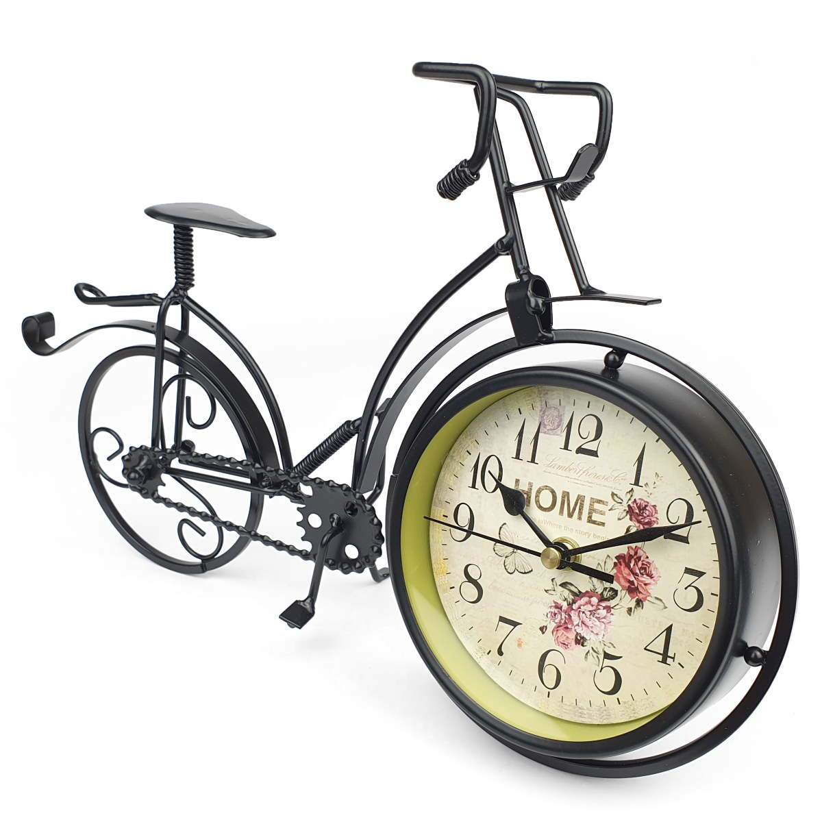 Victory Colton Artistic Metal Bicycle Desk Clock Black 34cm TAA 106B 1
