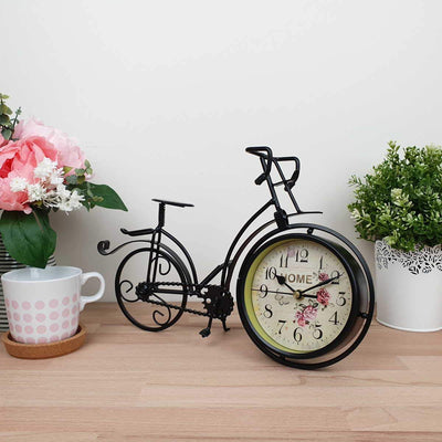 Victory Colton Artistic Metal Bicycle Desk Clock Black 34cm TAA 106B 4