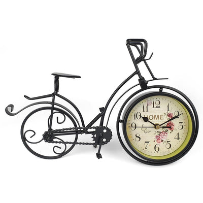Victory Colton Artistic Metal Bicycle Desk Clock Black 34cm TAA 106B 5