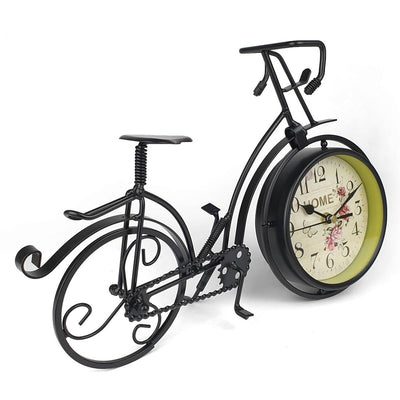 Victory Colton Artistic Metal Bicycle Desk Clock Black 34cm TAA 106B 8