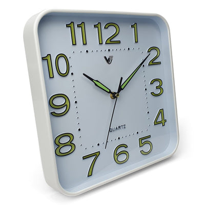 Victory Cordell Glow In The Dark Wall Clock White 30cm CJH 438 1