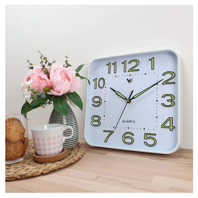 Victory Cordell Glow In The Dark Wall Clock White 30cm CJH 438 6