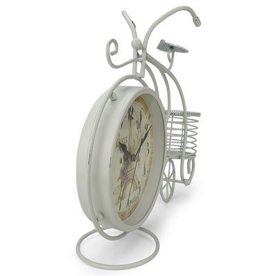 Victory Cullen Artistic Metal Bicycle Desk Clock White 32cm TAA 105W 4