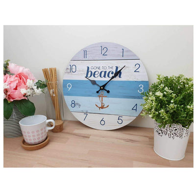 Victory Gone To The Beach Wall Clock 34cm CBA 423D 2