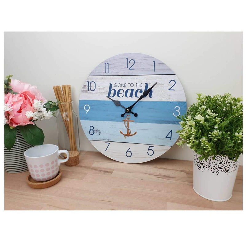 Gone To The Beach Wall Clock, 34cm