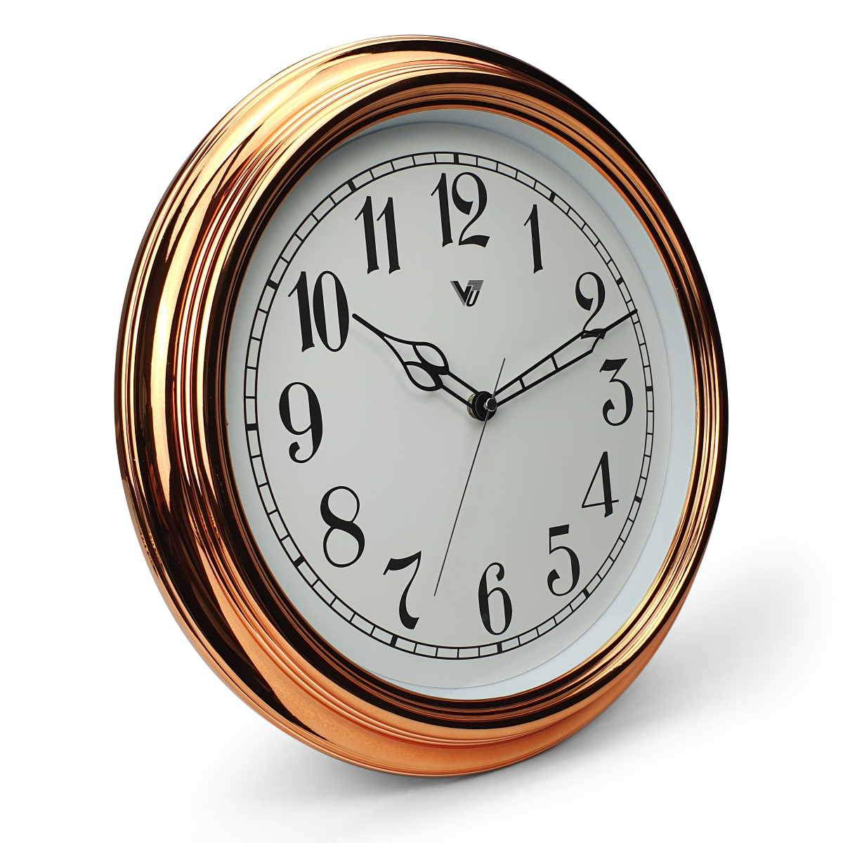 Victory Kinslee Shiny Frame Wall Clock Copper 38cm CCL 458 COP 1