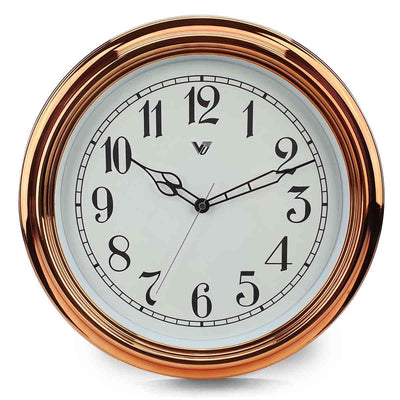 Victory Kinslee Shiny Frame Wall Clock Copper 38cm CCL 458 COP 8