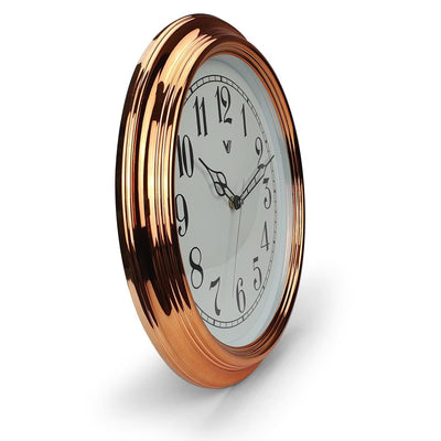 Victory Kinslee Shiny Frame Wall Clock Copper 38cm CCL 458 COP 2