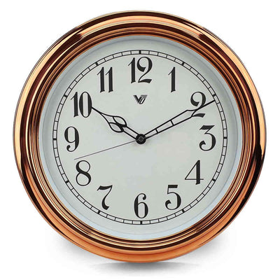 Victory Kinslee Shiny Frame Wall Clock Copper 38cm CCL 458 COP 3