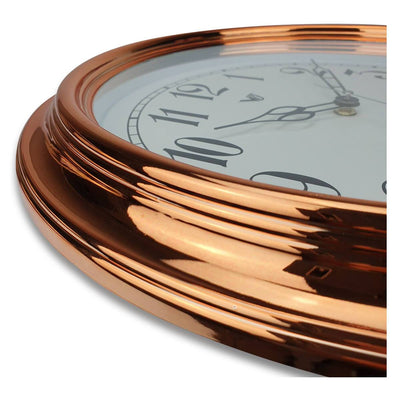 Victory Kinslee Shiny Frame Wall Clock Copper 38cm CCL 458 COP 4