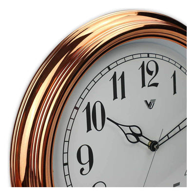 Victory Kinslee Shiny Frame Wall Clock Copper 38cm CCL 458 COP 5