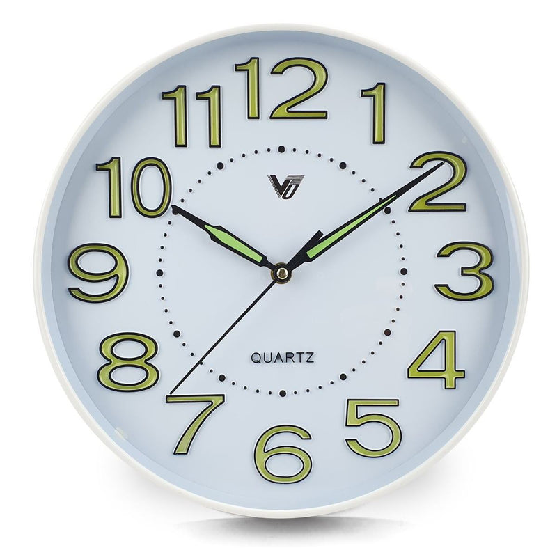 Victory Kobi Glow In The Dark Wall Clock White 30cm CJH 439 1