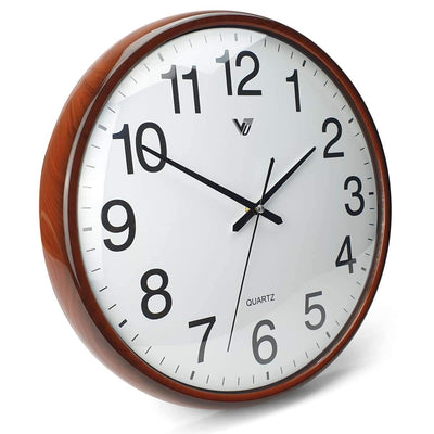 Victory Koen Domed Face Wall Clock Brown 38cm CCJ 2515BR 1