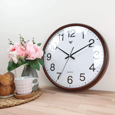 Victory Koen Domed Face Wall Clock Brown 38cm CCJ 2515BR 2