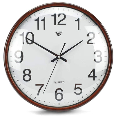 Victory Koen Domed Face Wall Clock Brown 38cm CCJ 2515BR 3