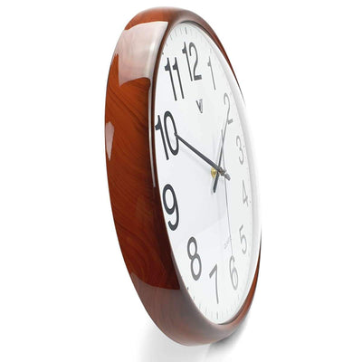 Victory Koen Domed Face Wall Clock Brown 38cm CCJ 2515BR 4