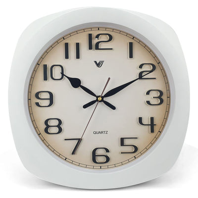 Victory Kolten 3D Number Squarish Wall Clock White 38cm CCJ 2535W 7