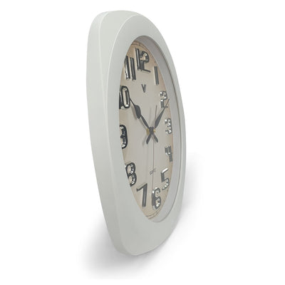 Victory Kolten 3D Number Squarish Wall Clock White 38cm CCJ 2535W 2