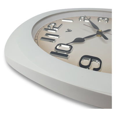 Victory Kolten 3D Number Squarish Wall Clock White 38cm CCJ 2535W 4