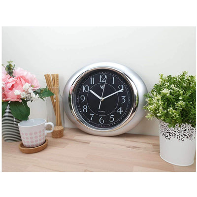 Victory Milly Eye Shaped Wall Clock Black 34cm CWH 360 B 2