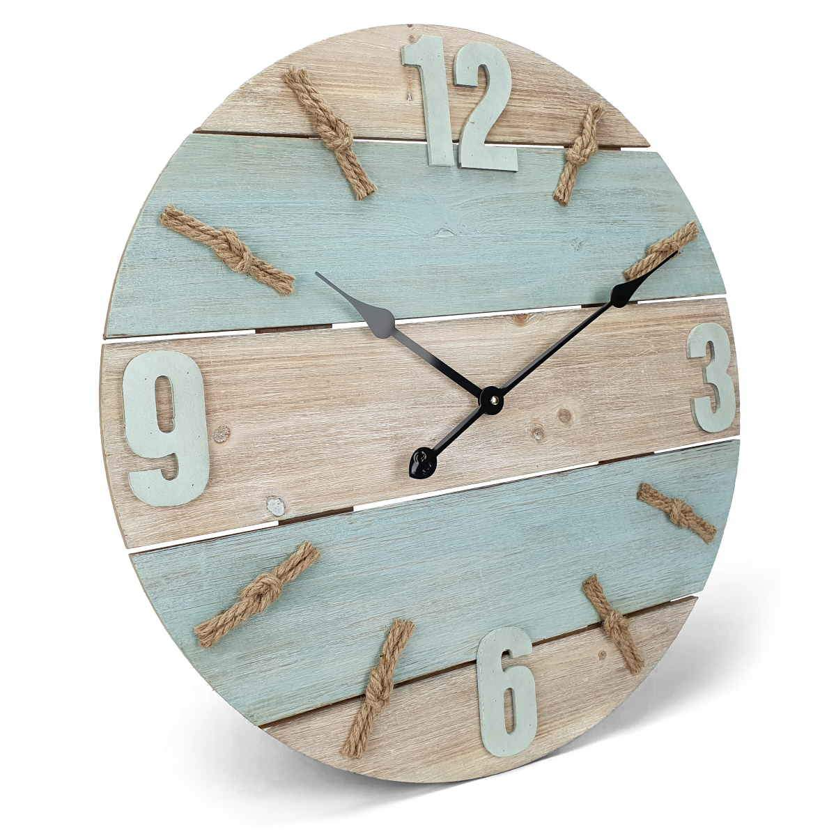 Victory Patterson Shabby Marine Timber Panel Wall Clock 60cm CBA 5177 1