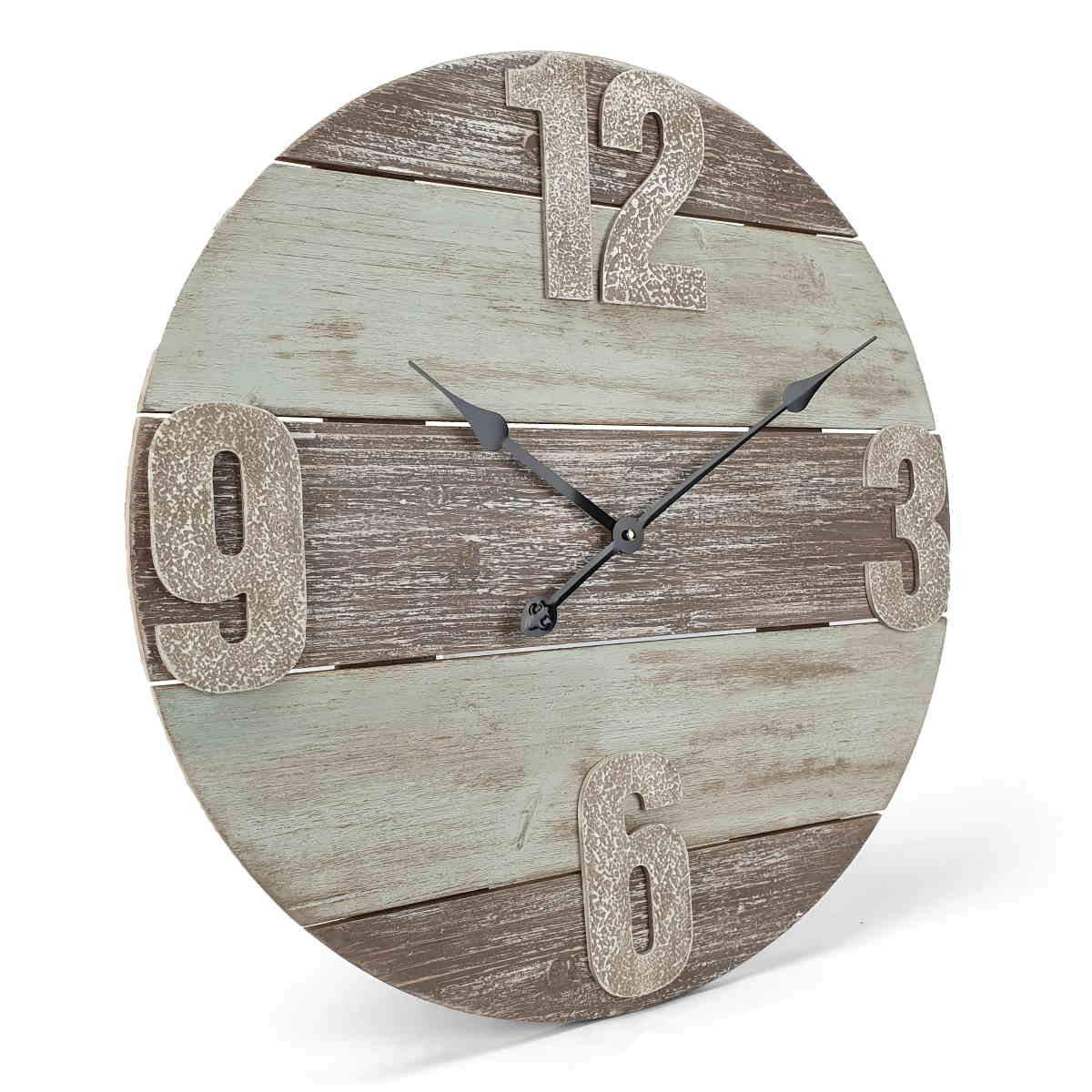 Victory Pearce Distressed Timber Panel Wall Clock 60cm CBA 2111 1