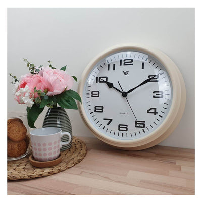 Victory Percy Classic Wall Clock Cream 37cm CCL 4135 CRE 6
