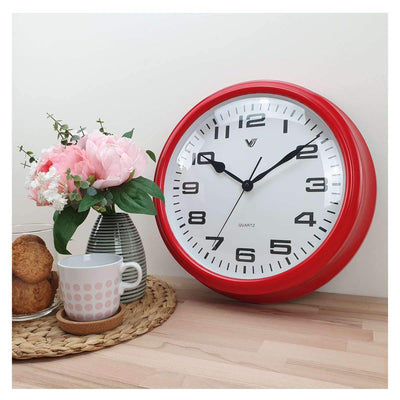 Victory Percy Classic Wall Clock Red 37cm CCL 4135 RED 6