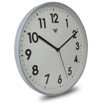 Victory Rachelle Wall Clock Light Blue Grey 30cm CCL 1558 BLU 1