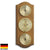 TFA Curved Weather Station Solid Oak Brown 27cm Front 20.1000.01