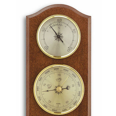 TFA Curved Weather Station Walnut Brown 27cm Front 20.1000.03 Top