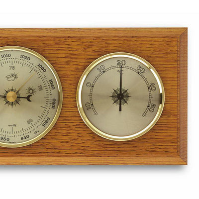 TFA Flat Weather Station Solid Oak Brown 28cm 20.1001 Right