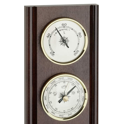 TFA Upright Weather Station Walnut Brown 27cm Top 20.1002.03