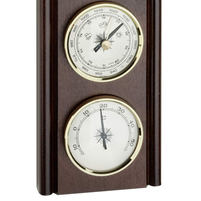TFA Upright Weather Station Walnut Brown 27cm Bottom 20.1002.03