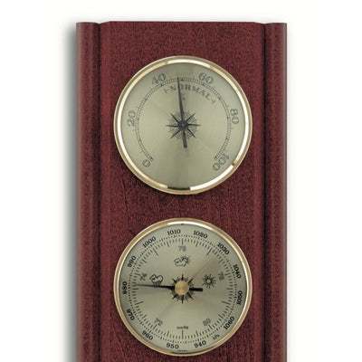TFA Upright Weather Station Mahogany Brown 27cm Top 20.1002.04