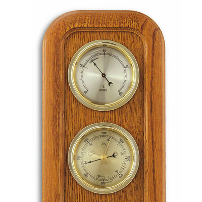 TFA Frame Weather Station Solid Oak Brown 38cm Top 20.1019.01