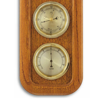 TFA Frame Weather Station Solid Oak Brown 38cm Bottom 20.1019.01