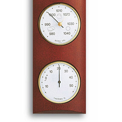 TFA Germany Gordon Analogue Solid Wood Weather Station Mahogany 35cm 20.1028.04 Bottom