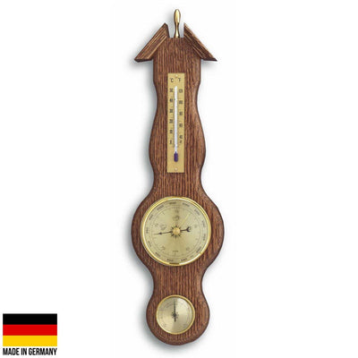 TFA Sheraton Weather Station Solid Oak Finish 39cm 20.1038 Front