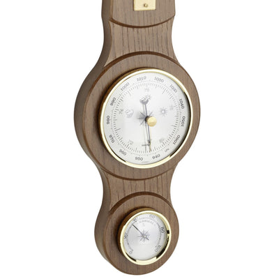 TFA Sheraton Weather Station Rustic Solid Oak Finish 39cm 20.1040.01 Bottom