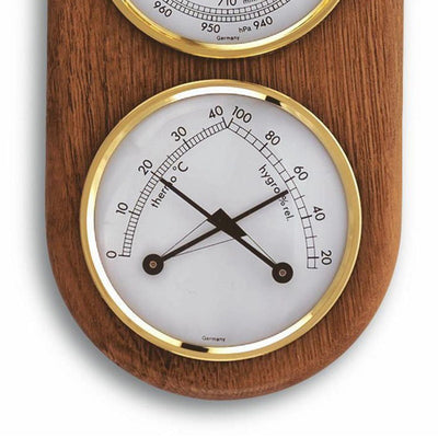 TFA 3 in 1 Weather Station Solid Oak Finish 17cm 20.1051 Bottom