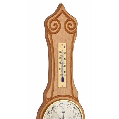 TFA Sheraton Banjo Weather Station Natural Solid Oak 42cm 20.1060.02 Top