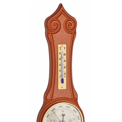 TFA Sheraton Weather Station Cherry Wood Finish 42cm 20.1060.10 Top