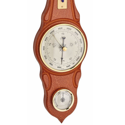 TFA Sheraton Weather Station Cherry Wood Finish 42cm 20.1060.10 Bottom