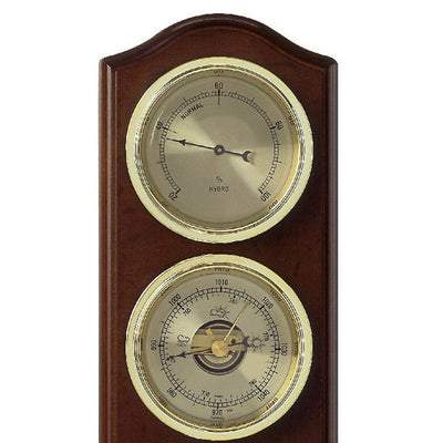 TFA Curved Domatic Weather Station Walnut Brown 33cm Top 20.1076.03B