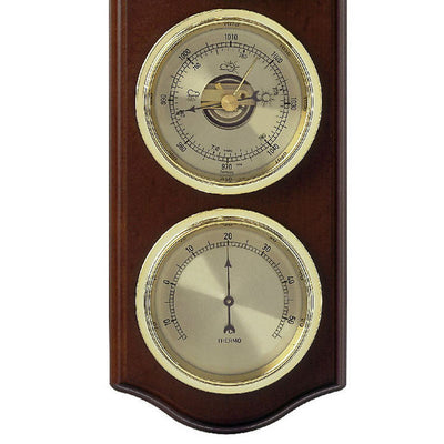 TFA Curved Domatic Weather Station Walnut Brown 33cm Bottom 20.1076.03B