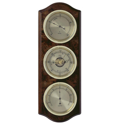 TFA Curved Domatic Weather Station, Root Timber Nut Brown, 33cm