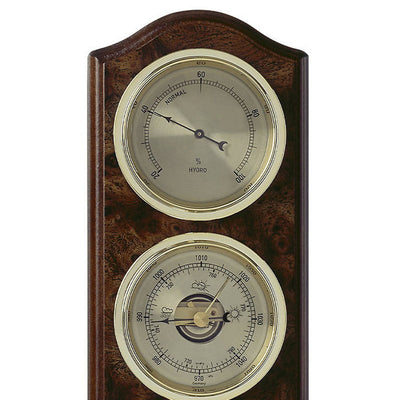 TFA Curved Domatic Weather Station Root Timber Nut Brown 33cm Top 20.1076.20B