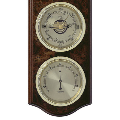 TFA Curved Domatic Weather Station Root Timber Nut Brown 33cm Bottom 20.1076.20B